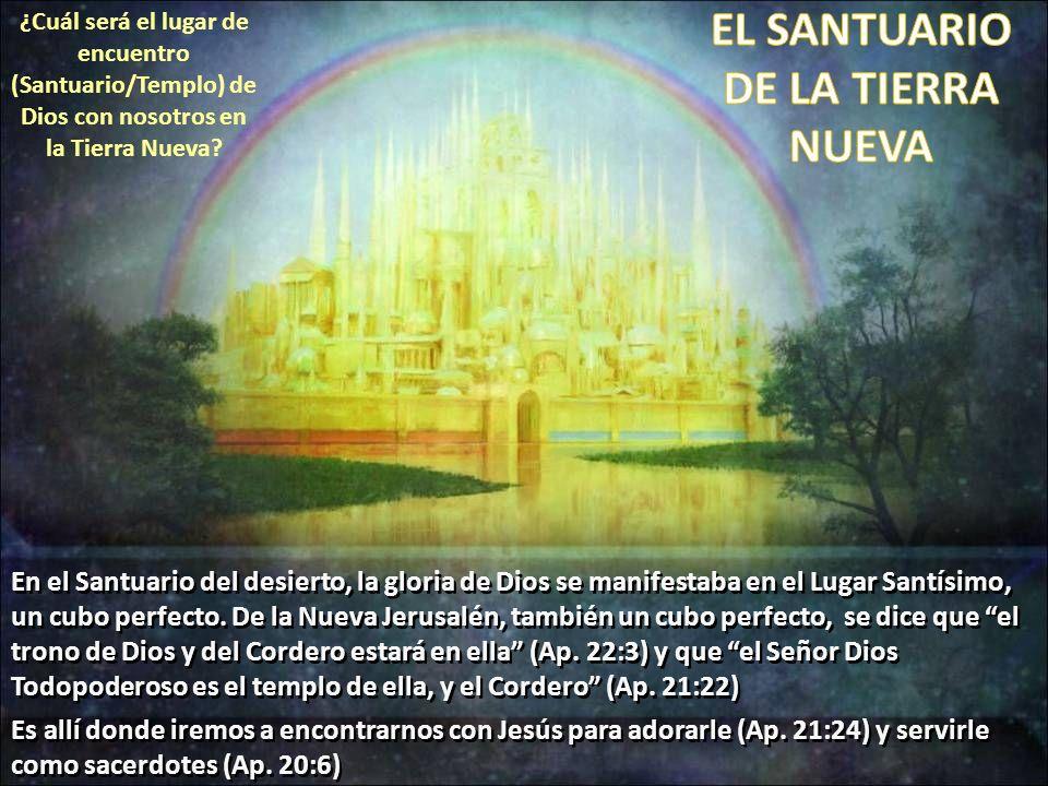 ¿Cuál será el lugar de encuentro (Santuario/Templo) de Dios con nosotros en la Tierra Nueva? En el Santuario del desierto, la gloria de Dios se manife