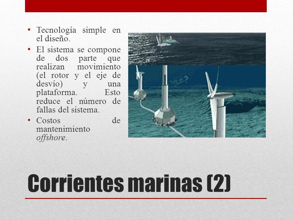 Corrientes marinas (2) Tecnología simple en el diseño.