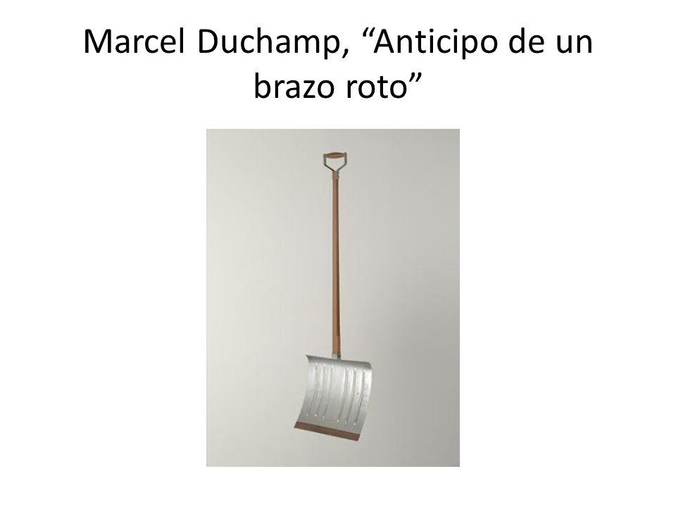 Marcel Duchamp, Anticipo de un brazo roto