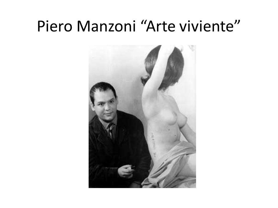 Piero Manzoni Arte viviente