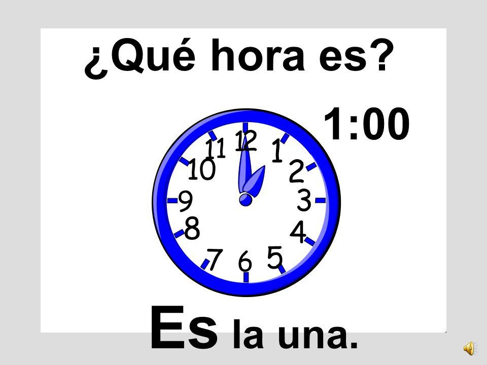 El reloj tiene doce números.