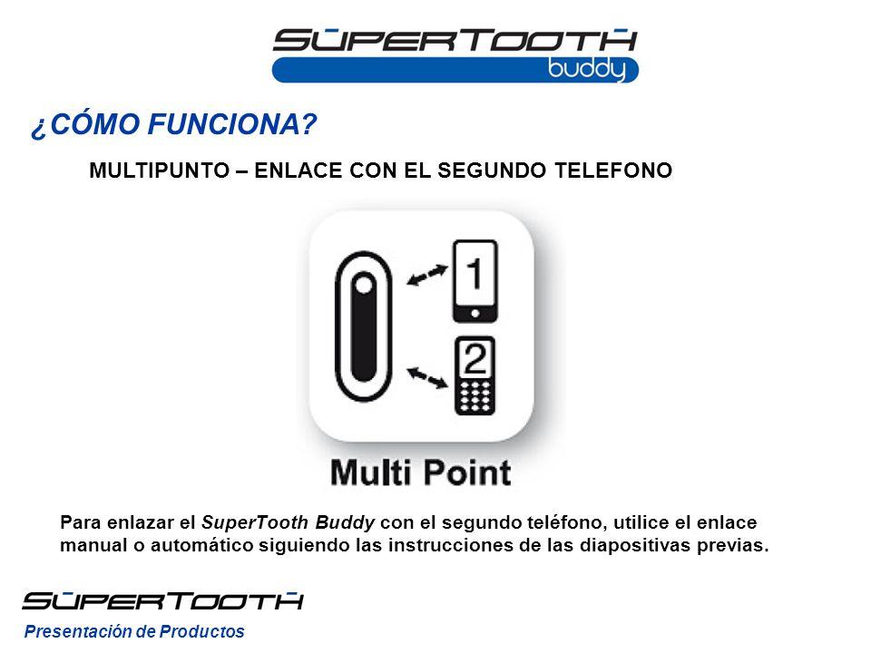 MULTIPUNTO – ENLACE CON EL SEGUNDO TELEFONO Presentación de Productos ¿CÓMO FUNCIONA.