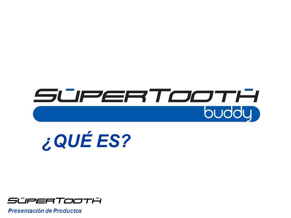 ¿QUÉ ES.El SuperTooth Buddy es un kit manos libres Bluetooth sin instalación para coche.