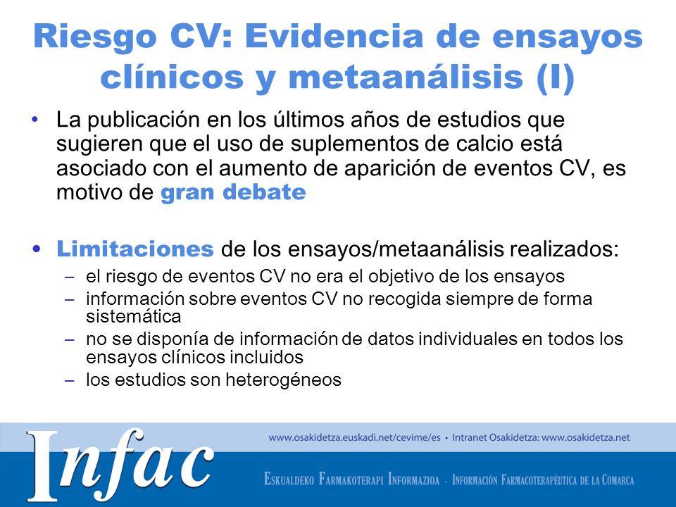 http://www.osakidetza.euskadi.net Riesgo CV: Evidencia de ensayos clínicos y metaanálisis (I) La publicación en los últimos años de estudios que sugie