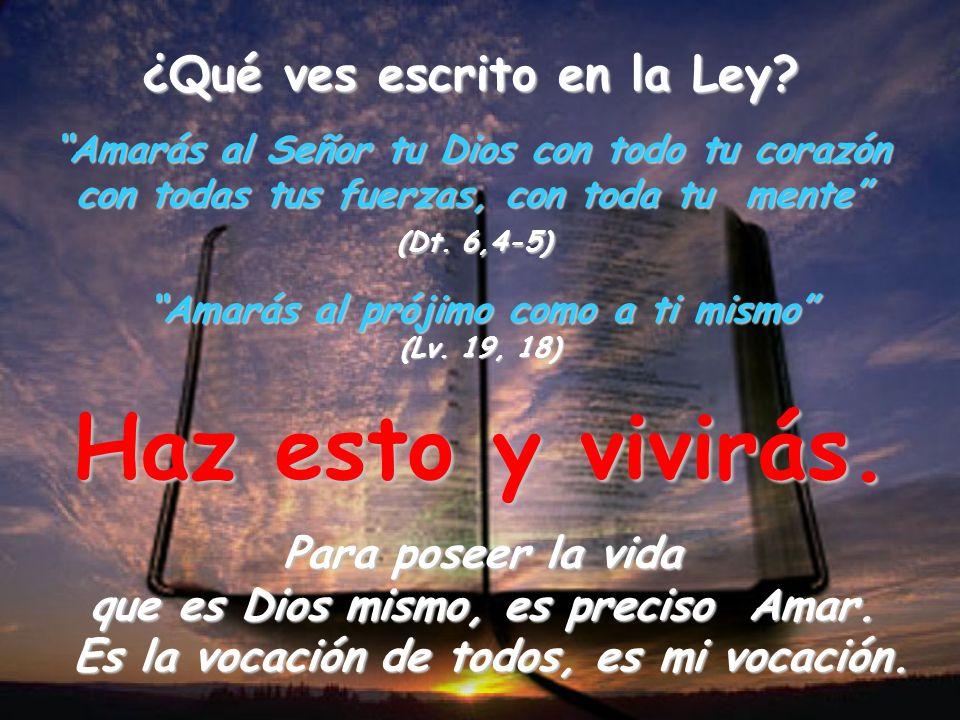 Lo que cuenta es… AMAR Himno a la caridad (S. Pablo) – Lo que cuenta es amar (C. Carretto)