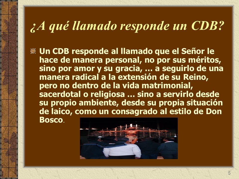 5 ¿A qué llamado responde un CDB? Un CDB responde al llamado que el Señor le hace de manera personal, no por sus méritos, sino por amor y su gracia, …