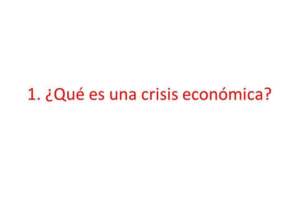 1. ¿Qué es una crisis económica?