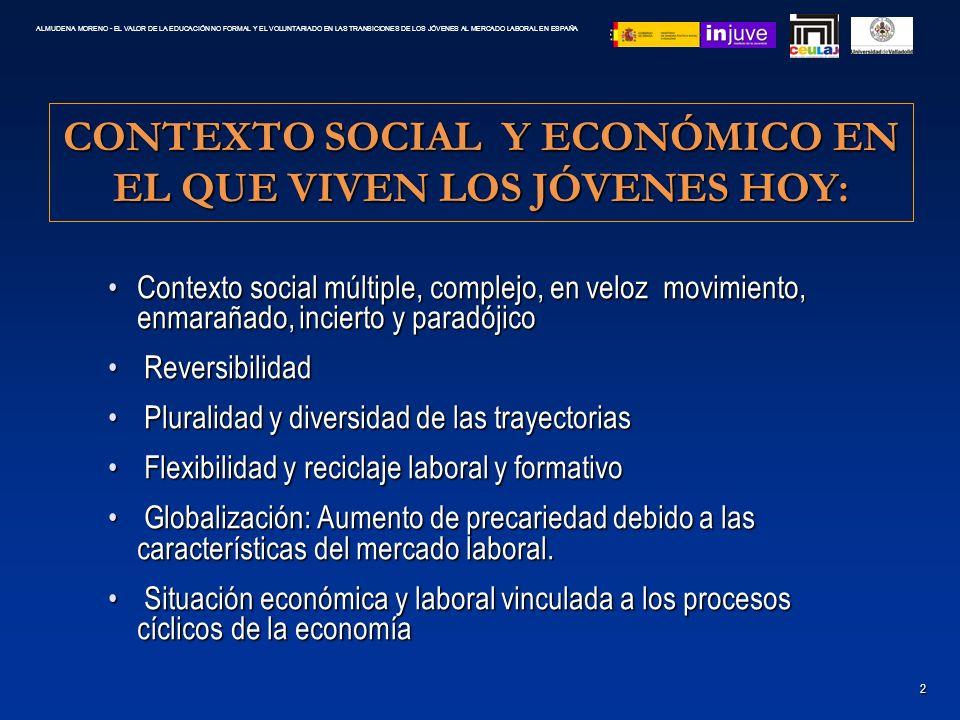 CONTEXTO SOCIAL Y ECONÓMICO EN EL QUE VIVEN LOS JÓVENES HOY: Contexto social múltiple, complejo, en veloz movimiento, enmarañado, incierto y paradójic