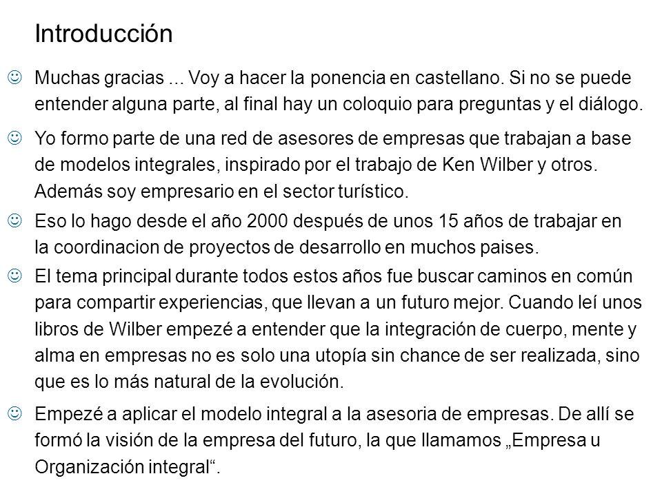 La Organización integral Fundamentos Potenciales del Futuro Visión ¿Como empezar.