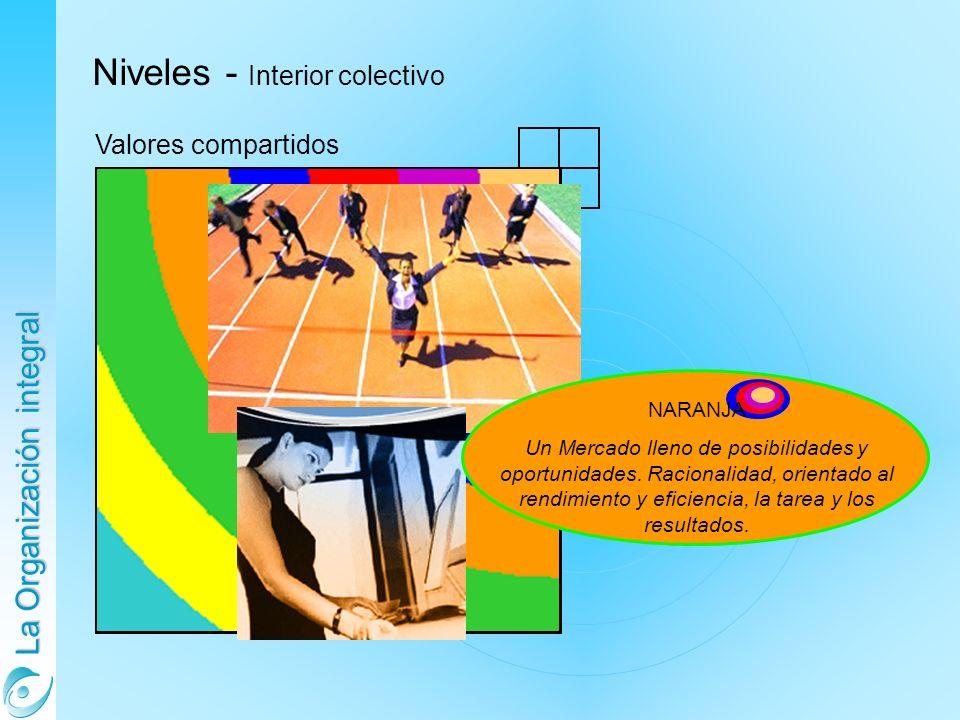 La Organización integral Niveles - Interior colectivo Valores compartidos NARANJA Un Mercado lleno de posibilidades y oportunidades. Racionalidad, ori