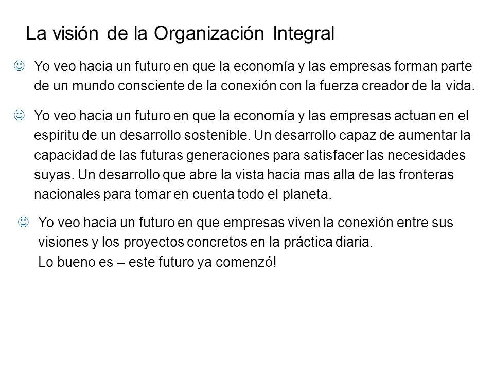 Yo veo hacia un futuro en que la economía y las empresas actuan en el espiritu de un desarrollo sostenible. Un desarrollo capaz de aumentar la capacid