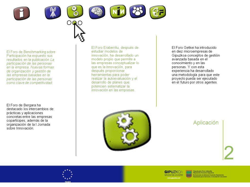 2 FEDER Aplicación El Foro de Benchmarking sobre Participación ha expuesto sus resultados en la publicación La participación de las personas en la emp