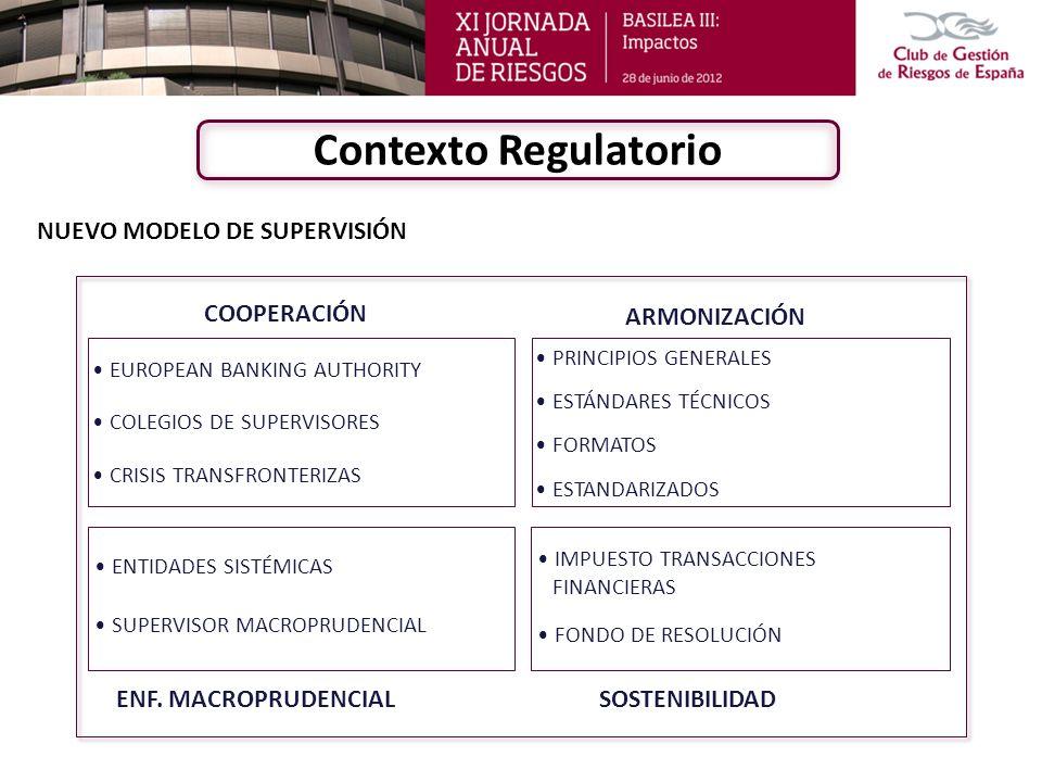 Objetivo: Identificar un conjunto de criterios susceptibles de ser armonizados con los de otros países, con el requisito de: Mejorar los ratios de capital (Core Capital, Capital Principal –CP-).