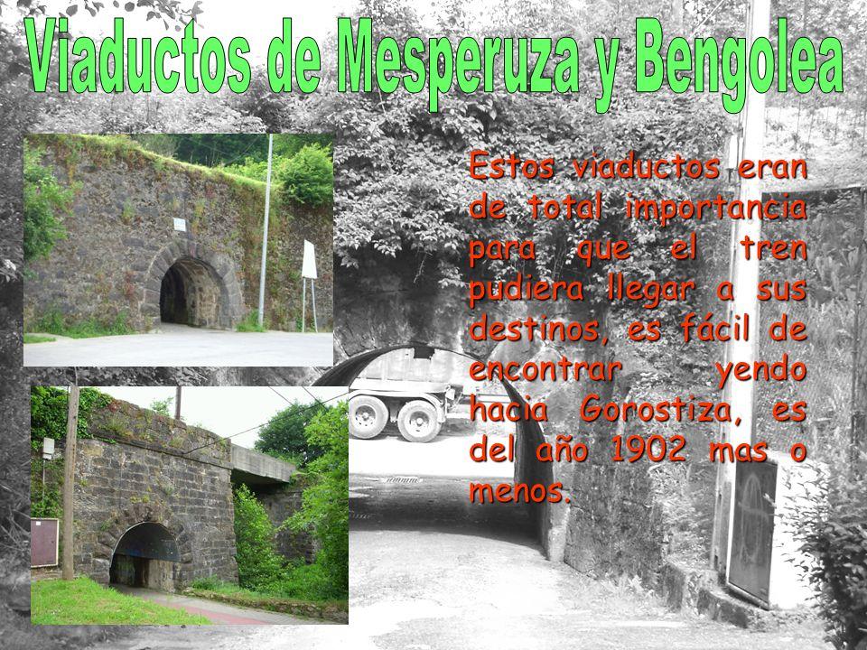 Estos viaductos eran de total importancia para que el tren pudiera llegar a sus destinos, es fácil de encontrar yendo hacia Gorostiza, es del año 1902 mas o menos.