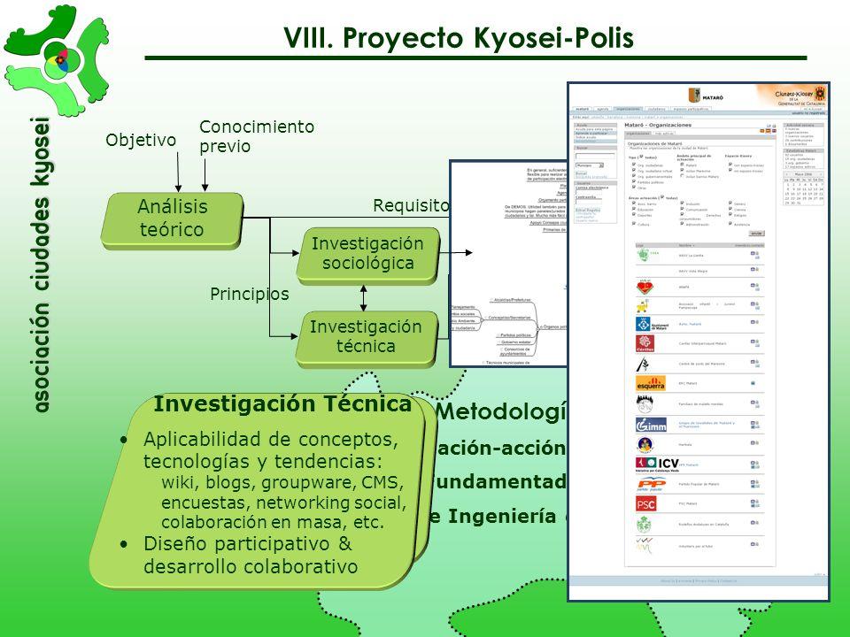 asociación Ciudades Kyosei Análisis teórico Conocimiento previo Objetivo Objetivo Diseño de un sistema de e-Participación que pueda ser usado en munic