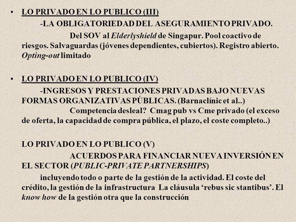 LO PRIVADO EN LO PUBLICO (III) -LA OBLIGATORIEDAD DEL ASEGURAMIENTO PRIVADO.