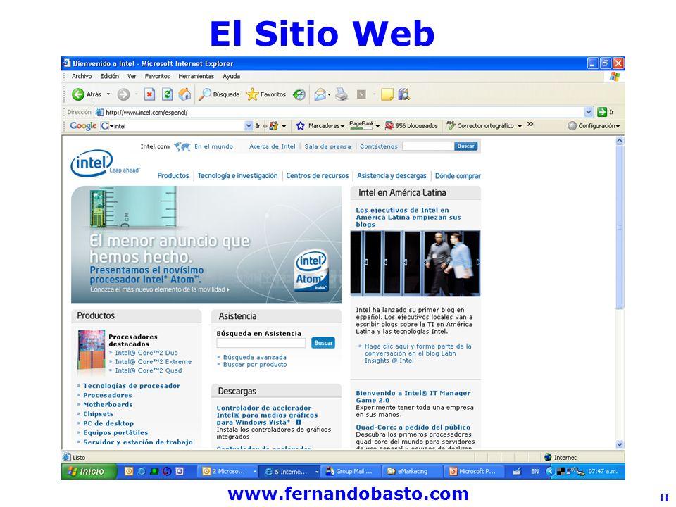 www.fernandobasto.com 11 El Sitio Web