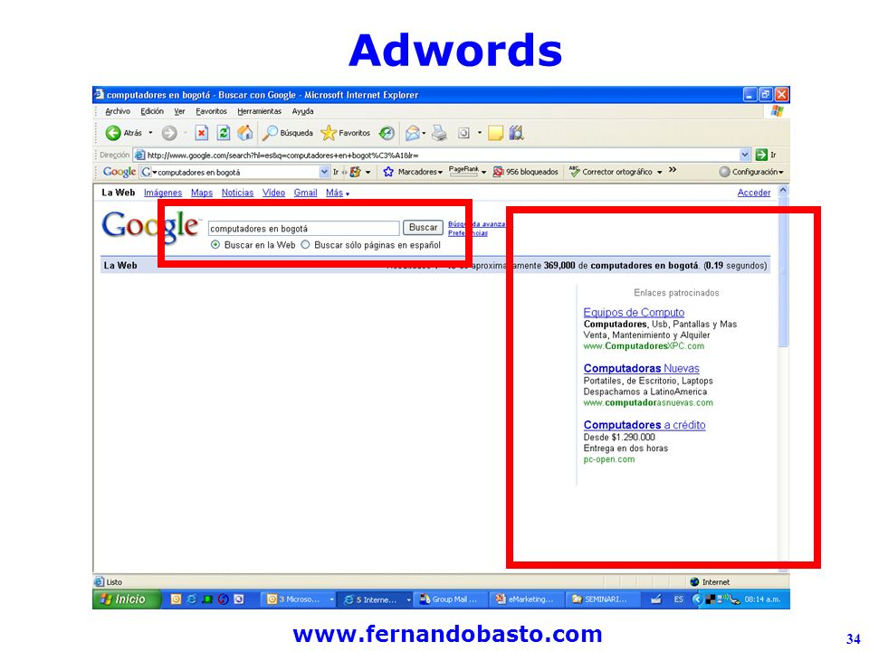 www.fernandobasto.com 34 Adwords