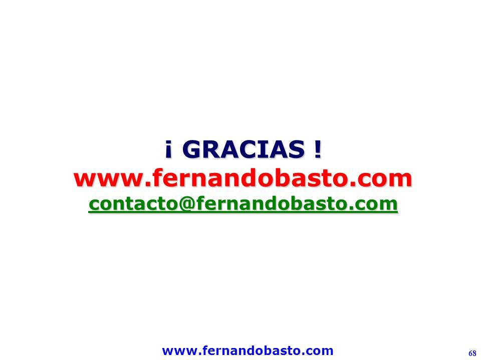 www.fernandobasto.com 68 ¡ GRACIAS ! www.fernandobasto.comcontacto@fernandobasto.com