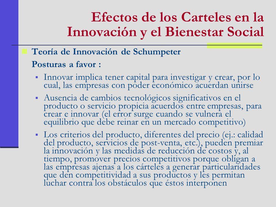 Teoría de Innovación de Schumpeter Posturas a favor : Innovar implica tener capital para investigar y crear, por lo cual, las empresas con poder econó