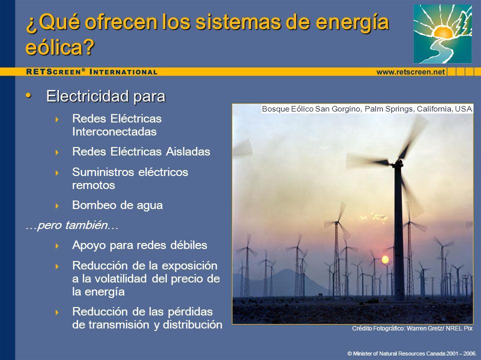 © Minister of Natural Resources Canada 2001 – 2006. Electricidad para Electricidad para Redes Eléctricas Interconectadas Redes Eléctricas Aisladas Sum
