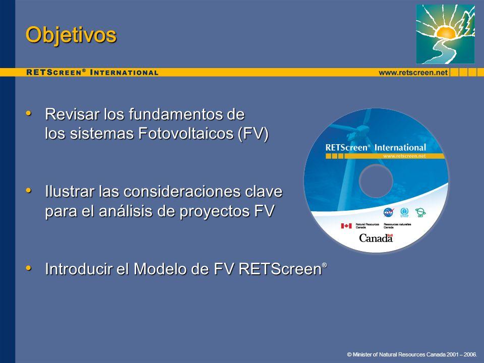 Objetivos Revisar los fundamentos de los sistemas Fotovoltaicos (FV) Revisar los fundamentos de los sistemas Fotovoltaicos (FV) Ilustrar las considera