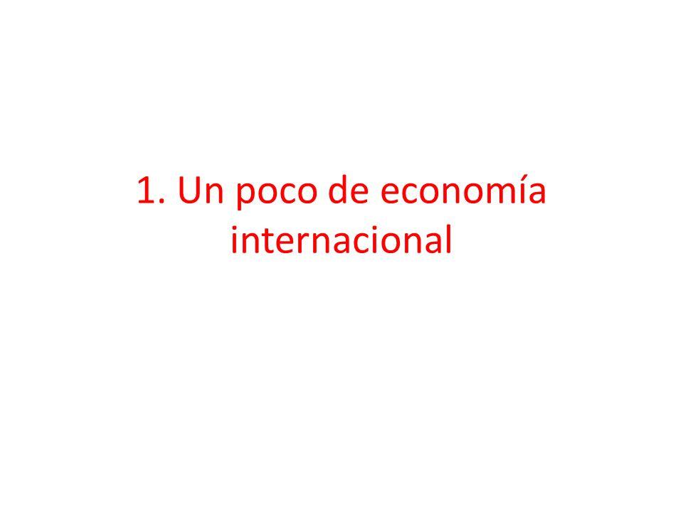 1. Un poco de economía internacional