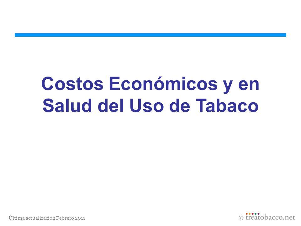 Última actualización Febrero 2011 Costos Económicos y en Salud del Uso de Tabaco