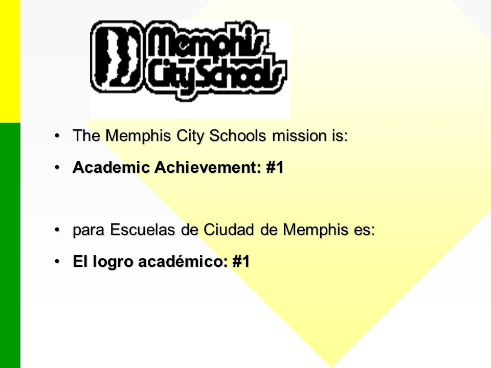 Memphis City Schools does not discriminate in its programs or employment on the basis of race, color, religion, national origin, handicap/disability, sex, or age.