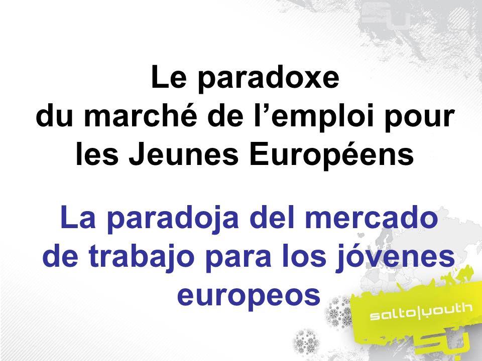 Taux de Chômage en Europe Tasas de paro en Europa