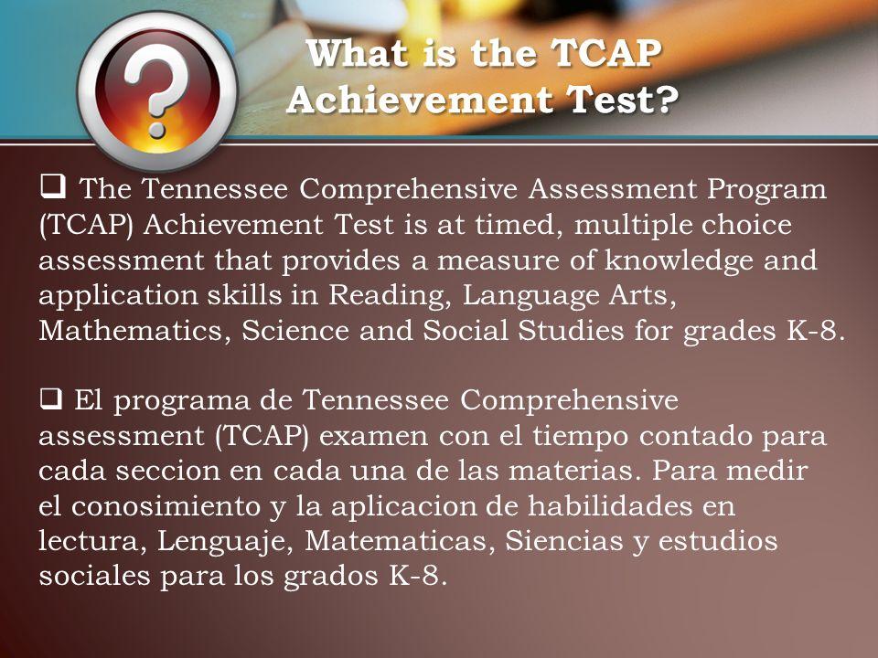 Anotar la fecha del exámen TCAP en el calendario de la casa; Programar citas en dias que no haya examenes.