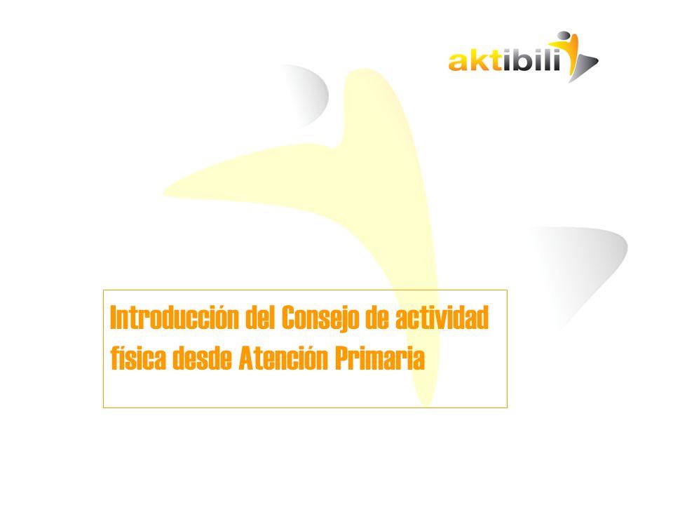 MARCO DE ACCIÓN ESTRATEGIAS Y PROYECTOS AKTIBILI Estrategia 1: PROMOVER LA APARICIÓN Y SOSTENIBILIDAD DE INICIATIVAS LOCALES DE ACTIVIDAD FÍSICA EN EL MARCO DE AKTIBILI Propuestas de actuación: 1.1.