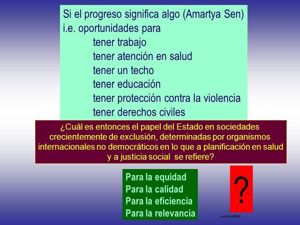 jventurelli00 ¿Cuál es entonces el papel del Estado en sociedades crecientemente de exclusión, determinadas por organismos internacionales no democrát