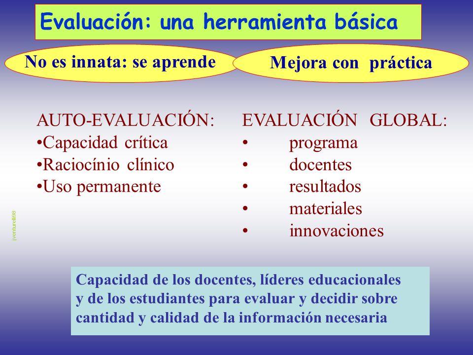 Evaluación: una herramienta básica Capacidad de los docentes, líderes educacionales y de los estudiantes para evaluar y decidir sobre cantidad y calid
