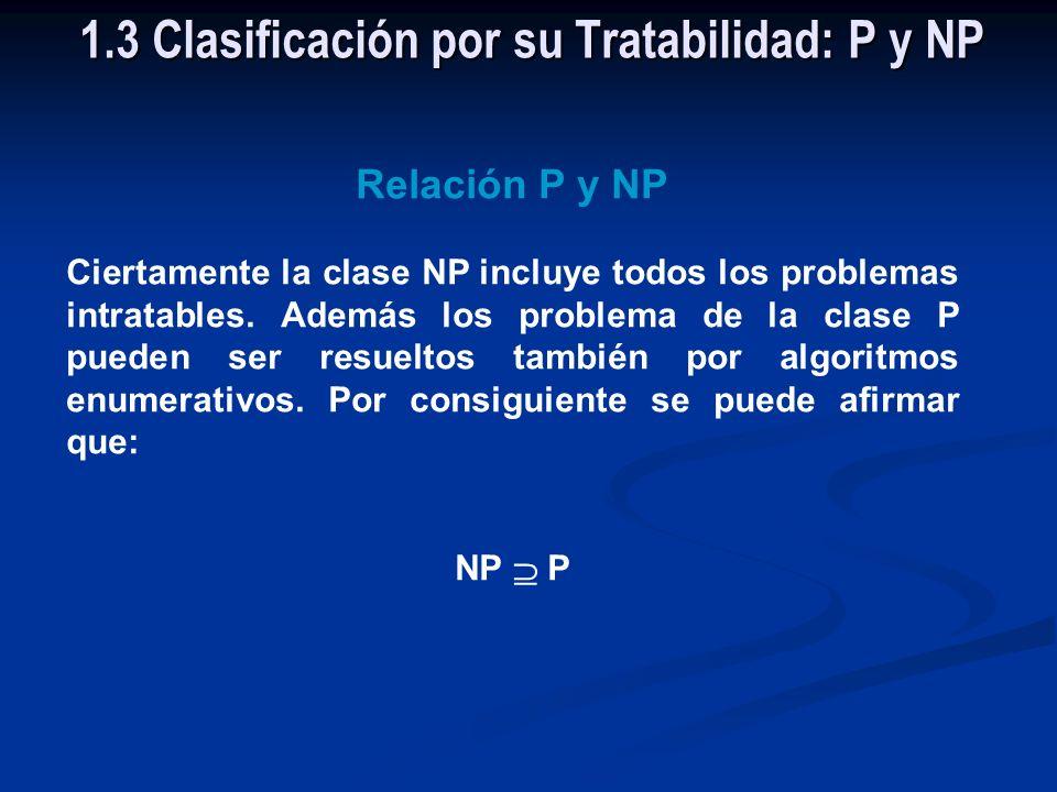 La Clase NP Está constituido por todos los problemas que pueden ser resueltos por algoritmos enumerativos, cuya búsqueda en el espacio de soluciones e