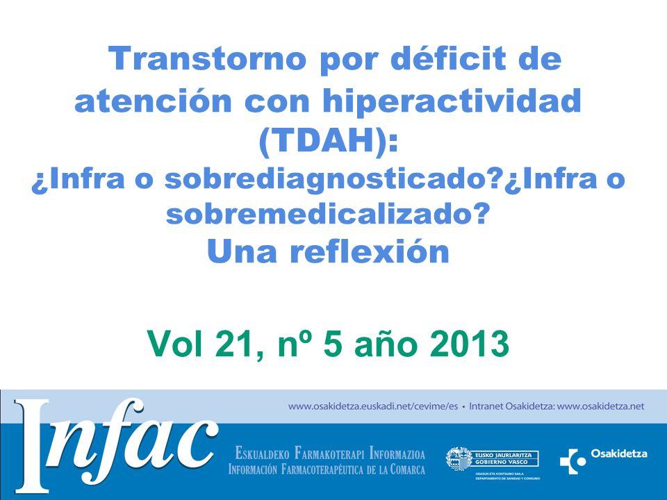 http://www.osakidetza.euskadi.net Transtorno por déficit de atención con hiperactividad (TDAH): ¿Infra o sobrediagnosticado?¿Infra o sobremedicalizado