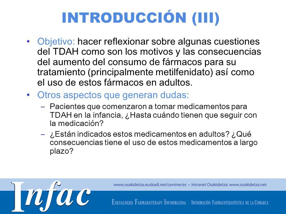 http://www.osakidetza.euskadi.net INTRODUCCIÓN (III) Objetivo: hacer reflexionar sobre algunas cuestiones del TDAH como son los motivos y las consecue
