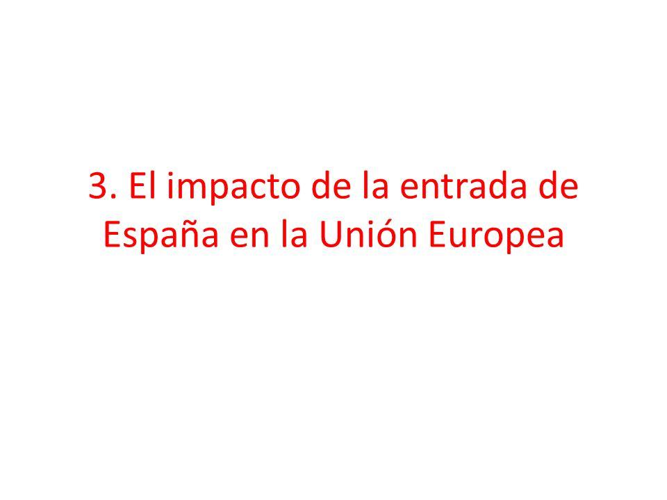 3. El impacto de la entrada de España en la Unión Europea
