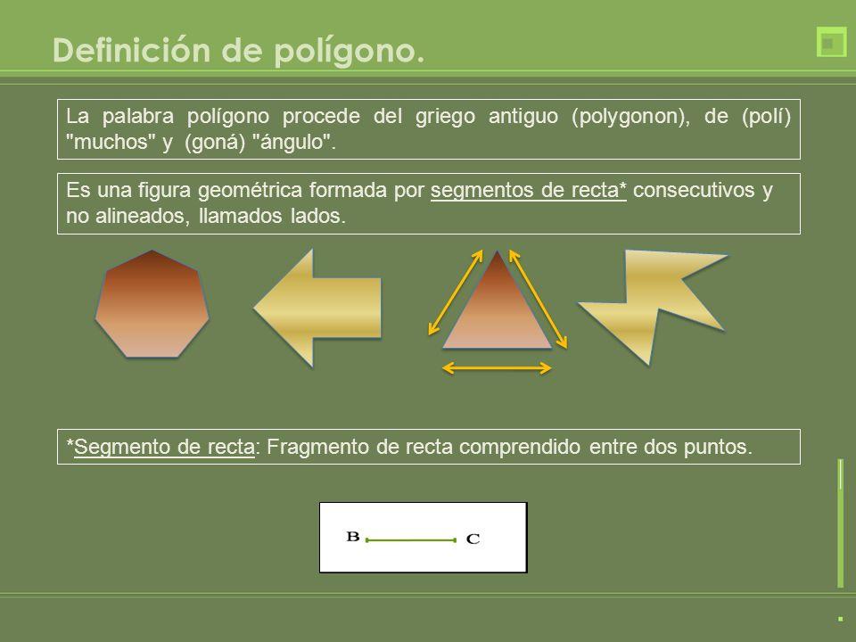 Definición de polígono. La palabra polígono procede del griego antiguo (polygonon), de (polí)