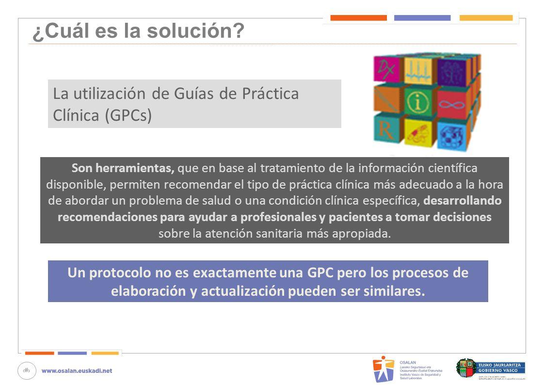 13 ¿Cuál es la solución? Son herramientas, que en base al tratamiento de la información científica disponible, permiten recomendar el tipo de práctica