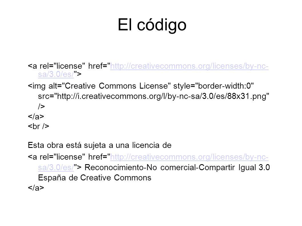 http://creativecommons.org/licenses/by-nc- sa/3.0/es/ Esta obra está sujeta a una licencia de Reconocimiento-No comercial-Compartir Igual 3.0 España d