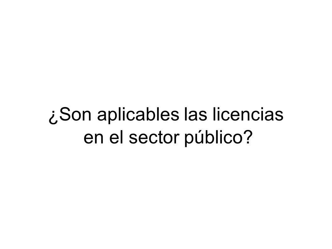¿Son aplicables las licencias en el sector público?