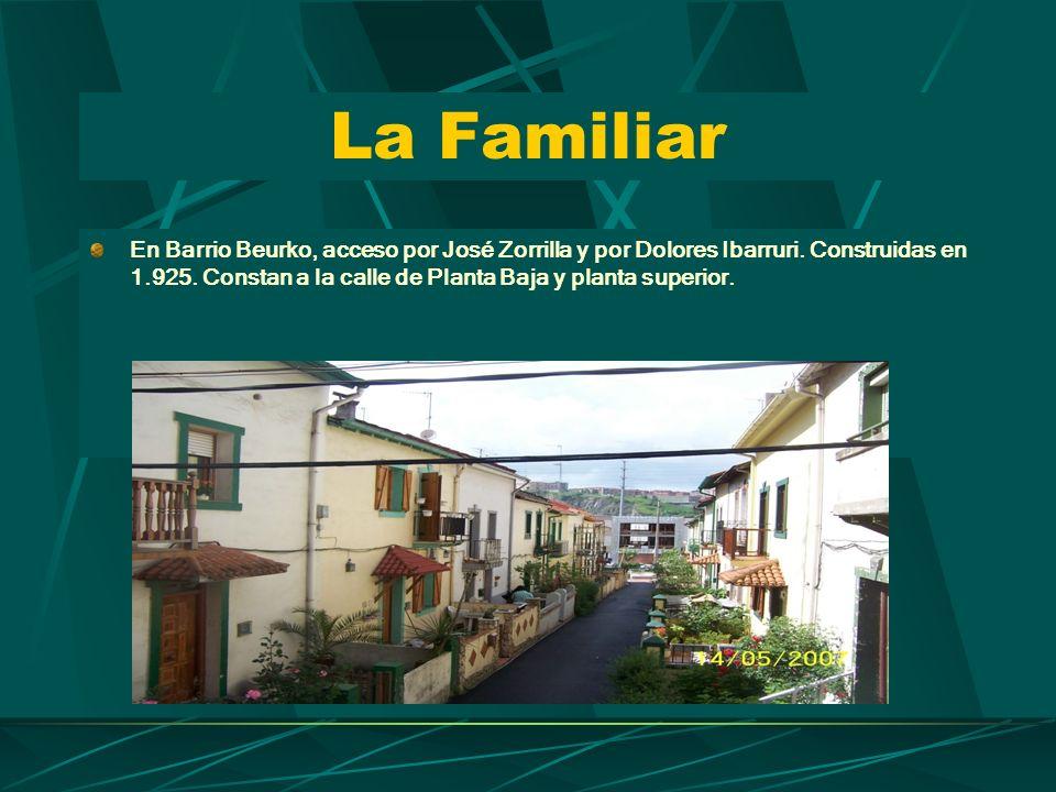 La Familiar En Barrio Beurko, acceso por José Zorrilla y por Dolores Ibarruri.