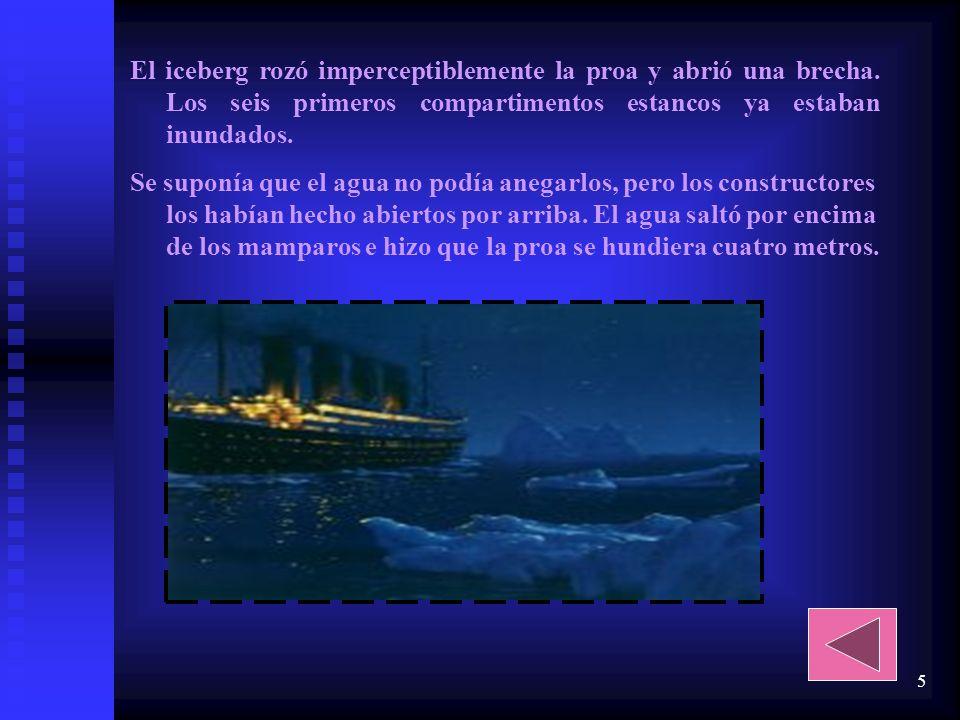 4 Creemos que era un barco muy hermoso y que era el barco más grande construido hasta entonces, con muchos lujos para la gente con dinero y una pequeñ