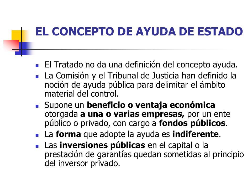 EL CARÁCTER SELECTIVO DE LA AYUDA Diferencia entre ayudas y medidas generales.