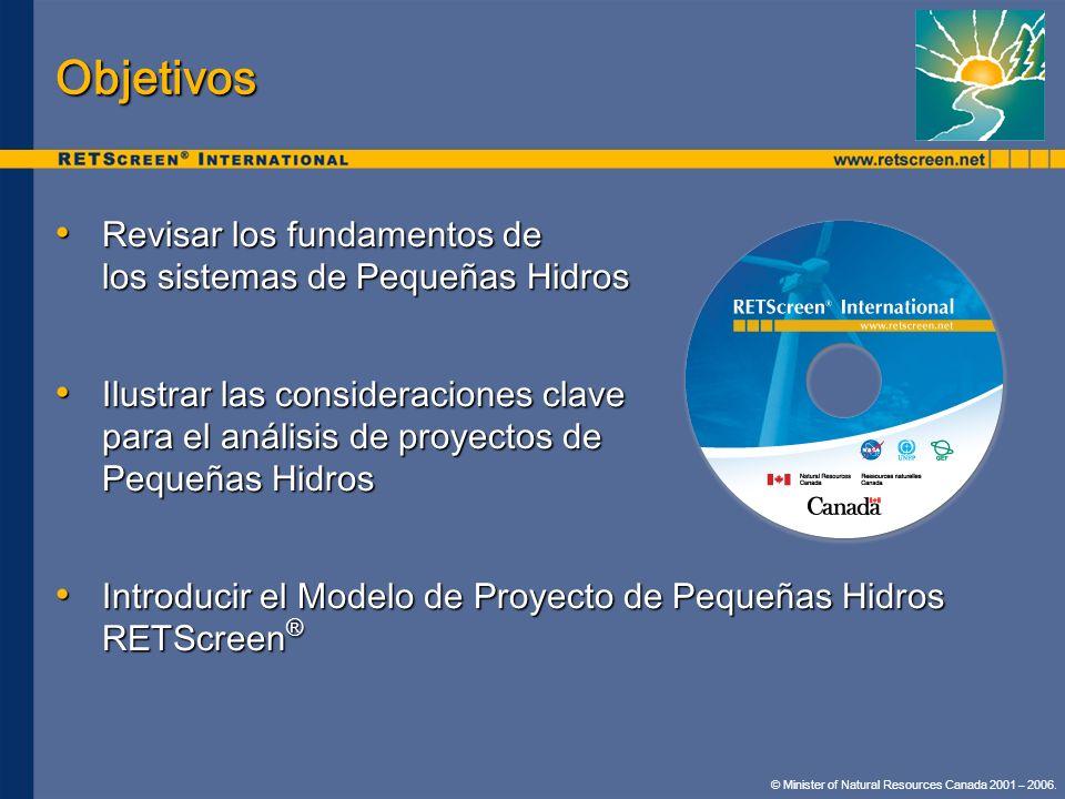 Objetivos Revisar los fundamentos de los sistemas de Pequeñas Hidros Revisar los fundamentos de los sistemas de Pequeñas Hidros Ilustrar las considera