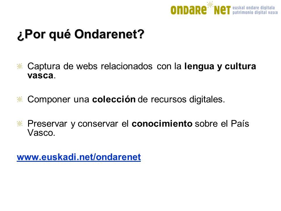 ¿Por qué Ondarenet.Captura de webs relacionados con la lengua y cultura vasca.