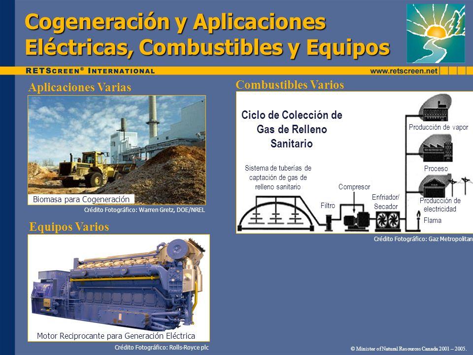 Cogeneración y Aplicaciones Eléctricas, Combustibles y Equipos © Minister of Natural Resources Canada 2001 – 2005. Crédito Fotográfico: Rolls-Royce pl