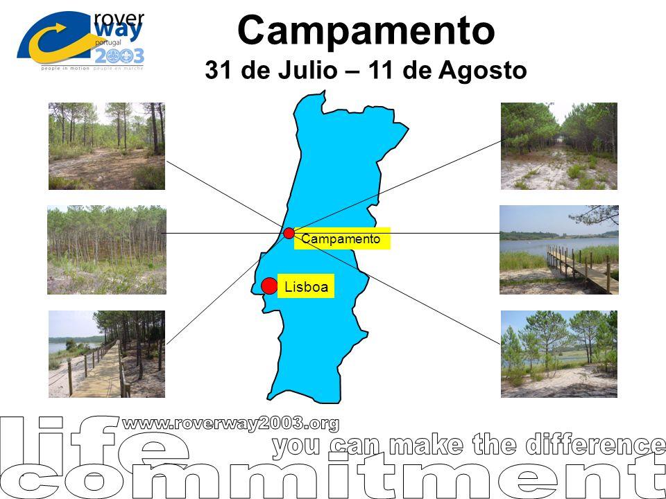 Campamento 31 de Julio – 11 de Agosto Lisboa Campamento