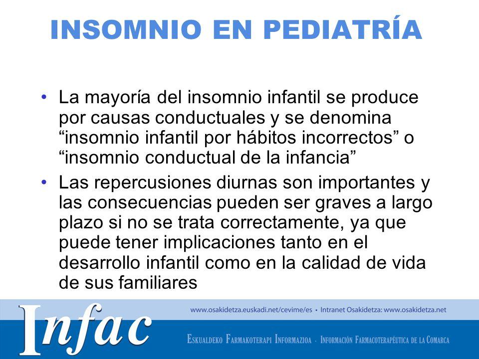 http://www.osakidetza.euskadi.net INSOMNIO EN PEDIATRÍA La mayoría del insomnio infantil se produce por causas conductuales y se denomina insomnio inf